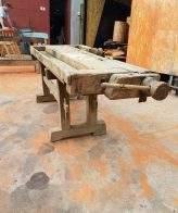 Vieil établi en bois